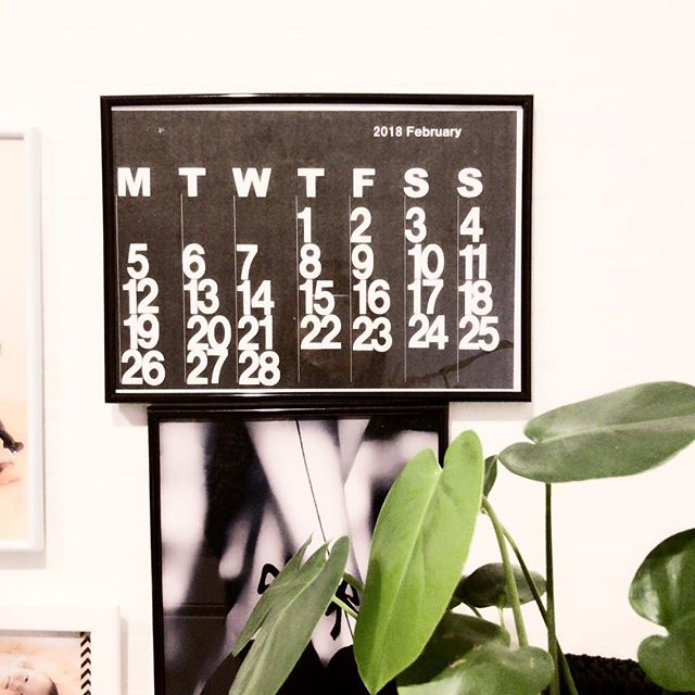 ステンディグカレンダー風の手作りカレンダーも素敵!パネルに入れて