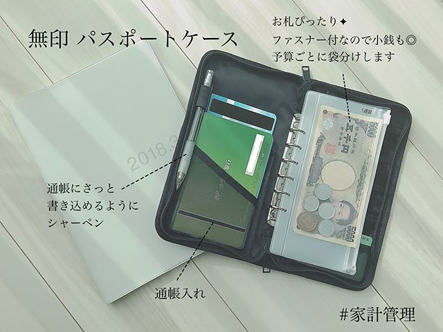 無印のパスポートケース2