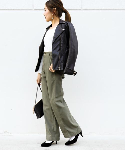 [Fashion Letter] ベイカーワイドパンツ
