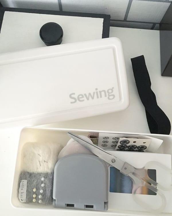 裁縫セットのボックスとして