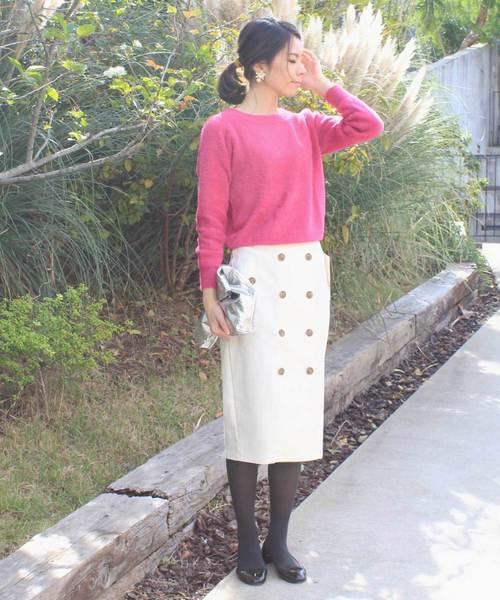 [12Twelve Agenda] トレンチ風タイトスカート