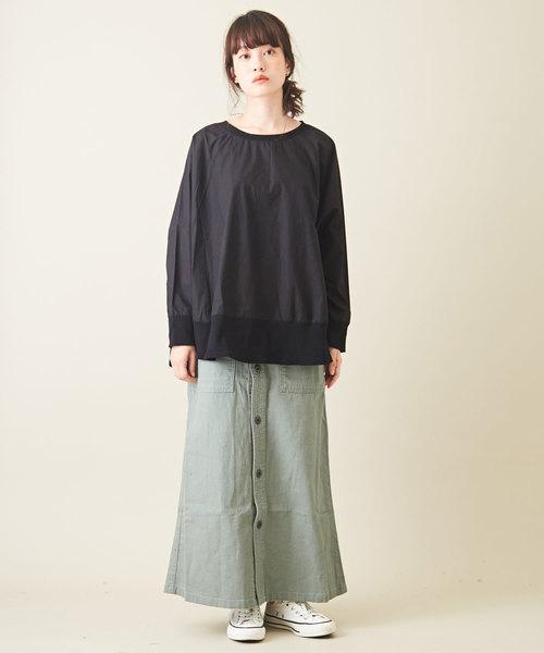 [CUBE SUGAR] ダックキャンバスAラインスカート