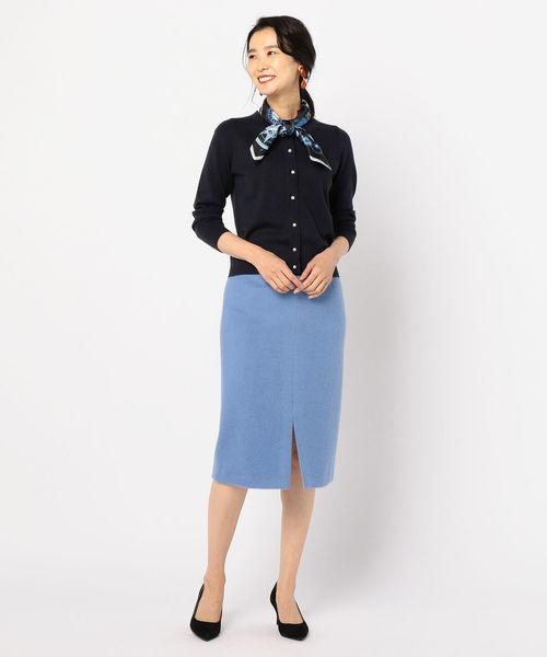 [NOLLEY'S] アルパカシャギータイトスカート
