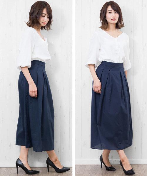 [mili an deni] 綿ローンスカート