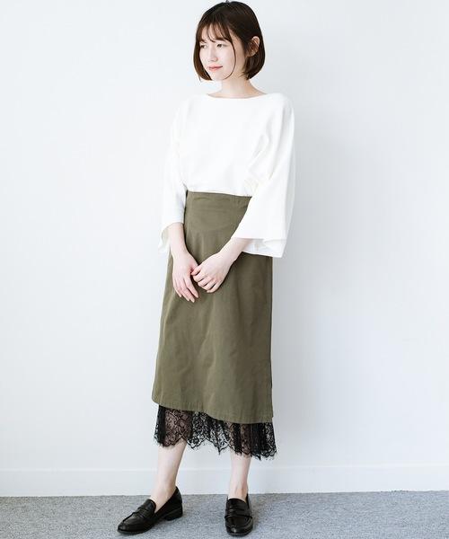 [haco!] はくだけで華やかなきれいシルエットの重ねタイトスカート