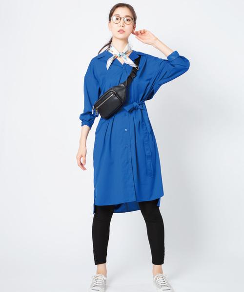 [ADMIX-Japan/JETSET SOLO PLUS] 【WEB限定】シャツジャケットワンピース