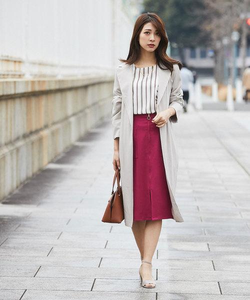 [12Twelve Agenda] TRピケ両ポケタイトスカート
