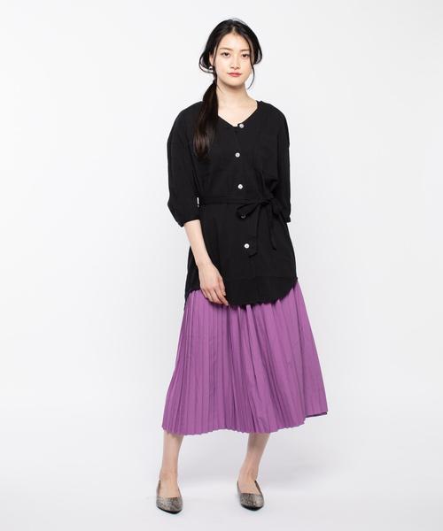 [COLONY 2139] 平織りプリーツスカート