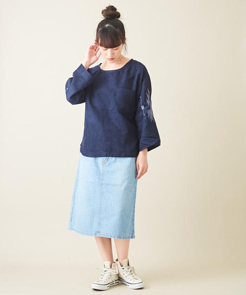[CUBE SUGAR] 9.6オンスデニム 5ポケット Aラインスカート