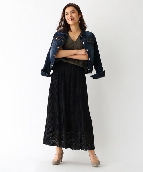 [aquagirl] ラッセルレース ロングスカート