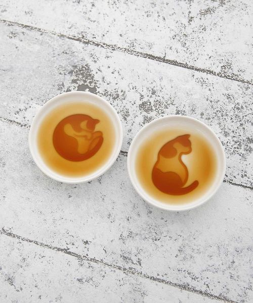 [Afternoon Tea LIVING] ネコ柄醤油皿