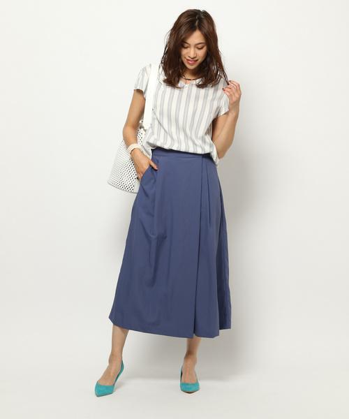 【夏】ギャザースカート×ビジネスカジュアル
