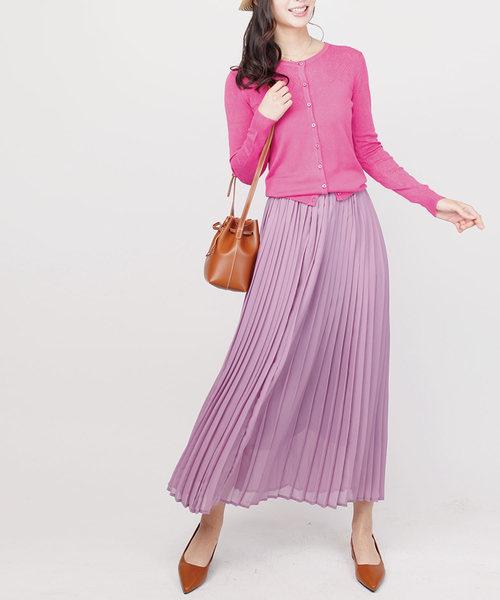[aimoha] ロングプリーツスカート
