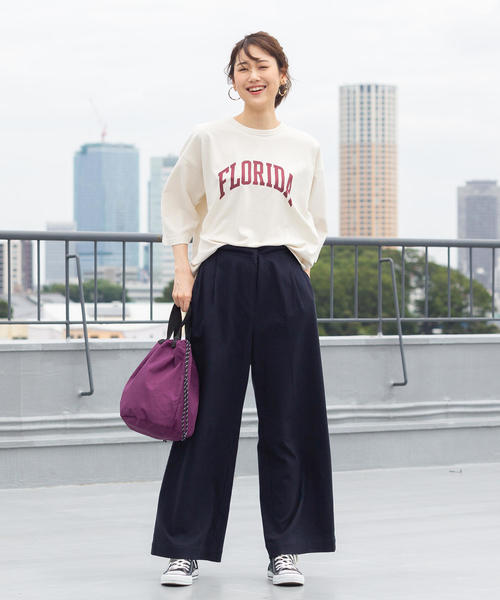 [coen] 【WEB限定サイズ:XL】起毛コットンストレッチイージーワイドパンツ