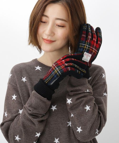 [BASESTATION] Harris Tweed ハリス ツィード生地使用 手袋 グローブ