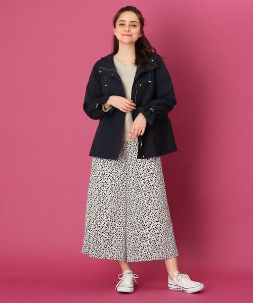 [Couture brooch] 【WEB限定サイズ(SS・LL)あり】シャーリング袖マウンテンパーカー