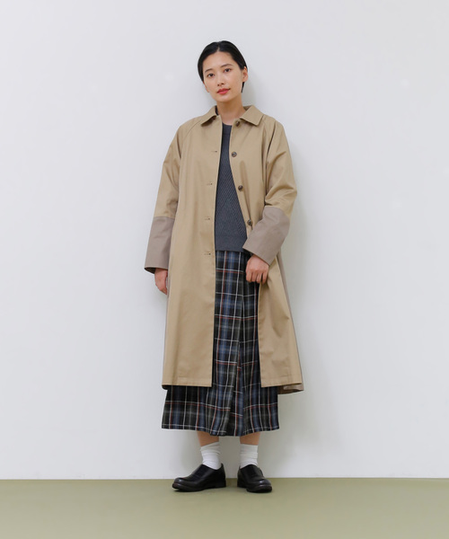 [ADIEU TRISTESSE] リネンチェックラップスカート