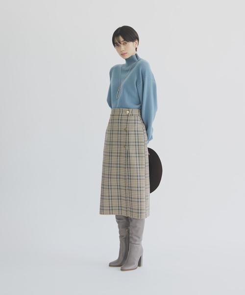 [EMMEL REFINES] ◆FC TR/チェック リバーシブルタイトスカート