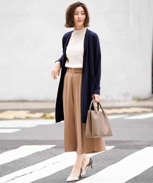 【秋】スカーチョ×ビジネスカジュアル