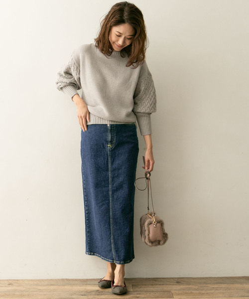 [URBAN RESEARCH ROSSO WOMEN] F by ROSSO SOMETHING別注ストレッチロングスカート
