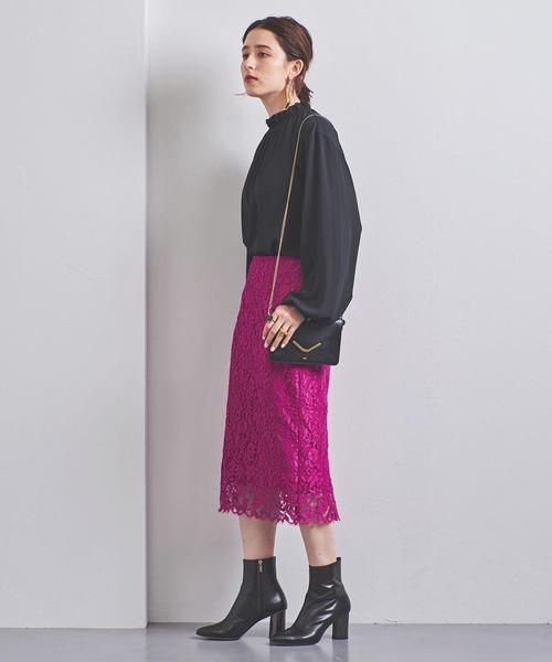 [UNITED ARROWS] UBCS リバーレース タイトスカート