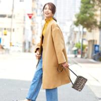 【2019-2020冬】ノーカラーコートのコーデ♡きれいめにもカジュアルにも使える!