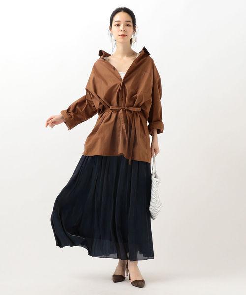 [SHIPS for women] プラチナムカッセンスカート