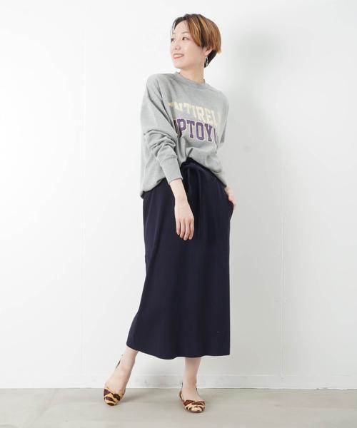 [LUCA/LADY LUCK LUCA] CHIRONN チロン ウエストリボン リブタイトスカート