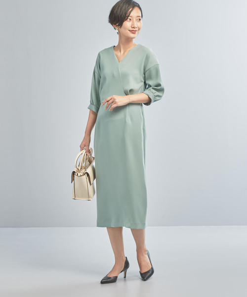 [green label relaxing] 【WORK TRIP OUTFITS】CS カシュクール ワンピース