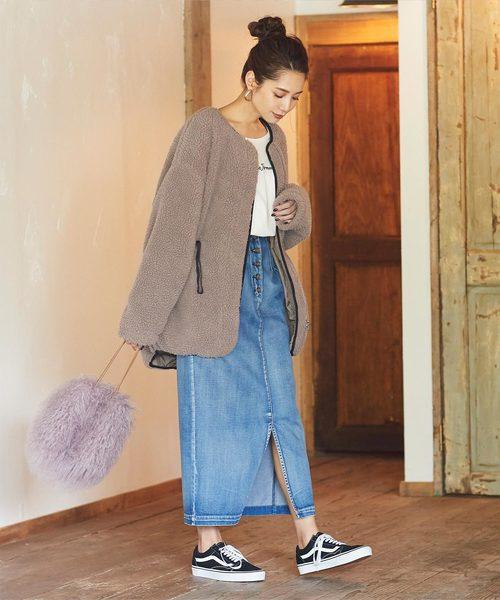 【軽井沢】4月に最適な服装:スカートコーデ6