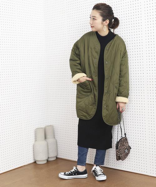 【北海道】4月に最適な服装:ワンピースコーデ6