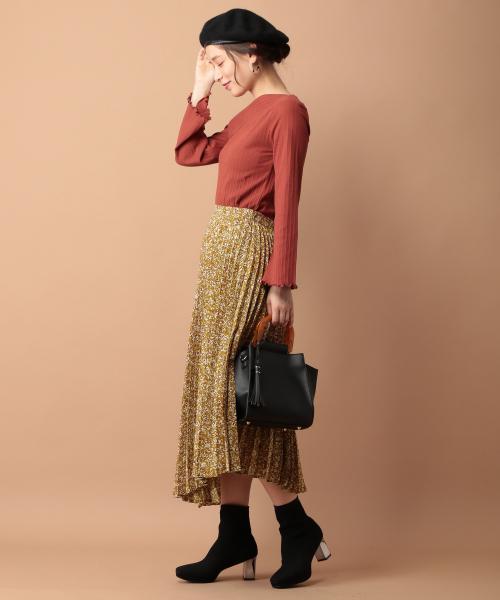 [mysty woman] アコーディオンプリーツスカート 854087