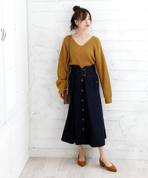 ネイビースカート5