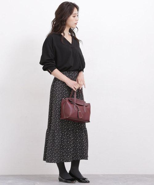【秋】ロングスカート×ビジネスカジュアル
