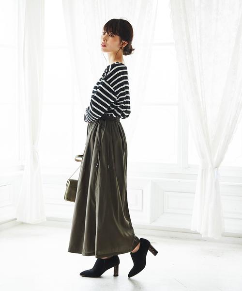 [GeeRA] 【WEB限定】合繊素材スカーチョ