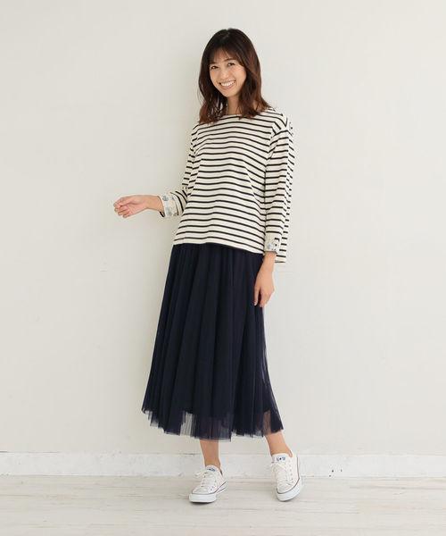 [Afternoon Tea LIVING] チュールボリュームスカート