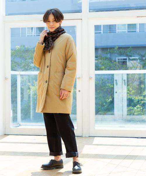 [coen] 【手洗いできる】SMAWARM中綿ハーフコート