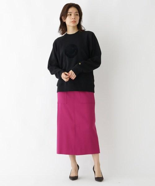[DRESSTERIOR] ポケット付きミディ丈タイトスカート