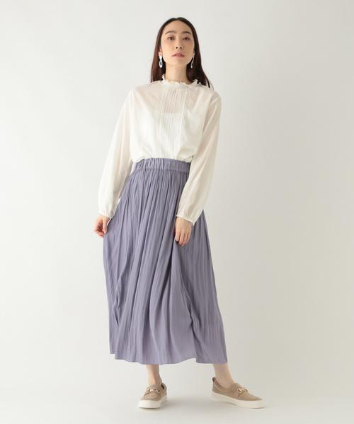 [studio CLIP] ヴィンテージサテンギャザースカート