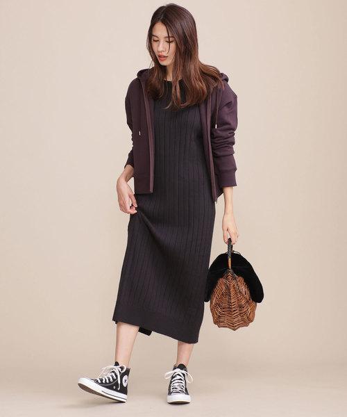 【軽井沢】4月に最適な服装:ワンピースコーデ6