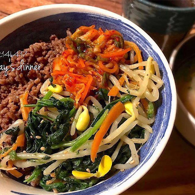 焼肉の付け合わせレシピ《ご飯&麺類》
