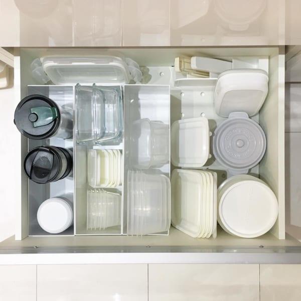 ファイルボックスで保存用容器を整理収納