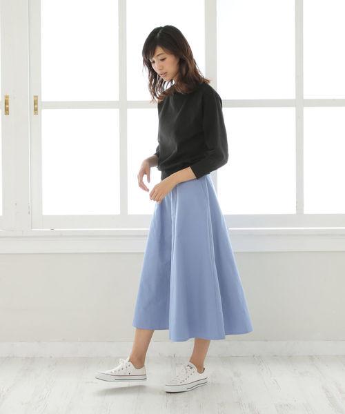 [Afternoon Tea LIVING] たっぷりボリュームフレアスカート