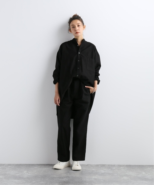 [JOURNAL STANDARD] ライトモールスキン スタンドカラーシャツ