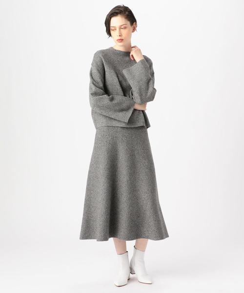 [TOMORROWLAND] ウールミラノリブ フレアロングスカート