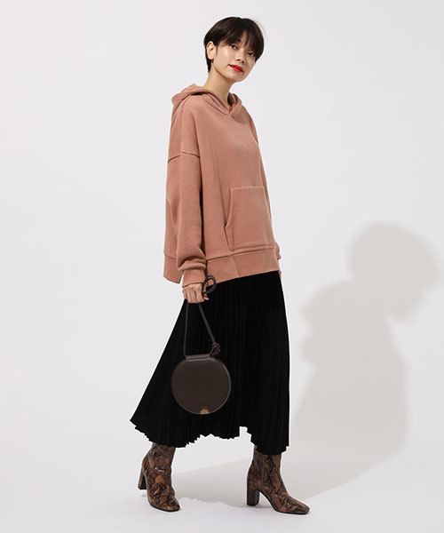 [AZUL BY MOUSSY] SIDE SLIT LAZY HOODIE/サイドスリットレイジーフーディパーカー(スウェット素材)