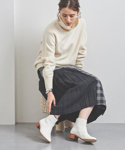 [UNITED ARROWS] UBCB ポインテッド バックジップ ブーツ