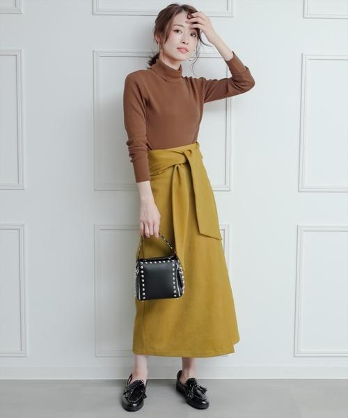 [clear] ウエストリボンスエードスカート