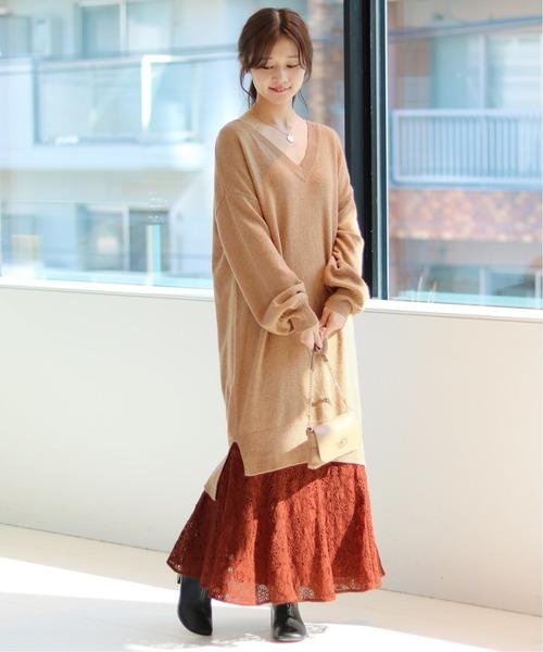 [IENA] レースマーメイドスカート◆