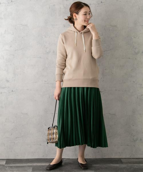 [URBAN RESEARCH ROSSO WOMEN] サテンプリーツスカート